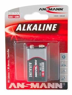 Ansmann E-Block-Batterie 9V Alkaline red